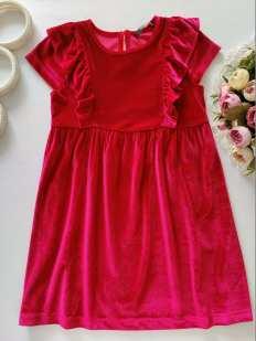 5,6 лет, рост 110,116 Бархатное платье