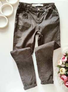 10,11 лет, рост 146 Блестящие штаны микровельвет