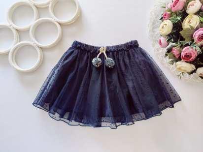 12,18 мес, рост 86 Фатиновая юбка в горошек