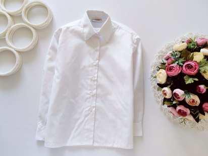 5,6 лет, рост 110,116 Новая белая рубашка