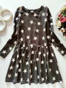 6,7 лет, рост 122 Платье в звездах