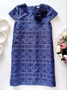 9 лет, рост 134 Ажурное платье