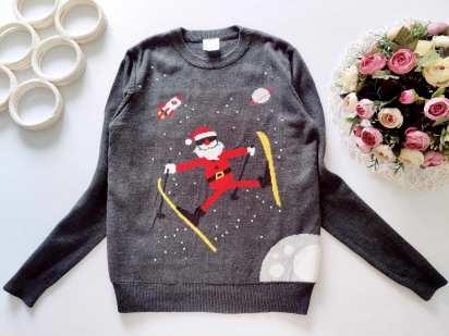 11,12 лет, рост 146,152 Новогодний свитер