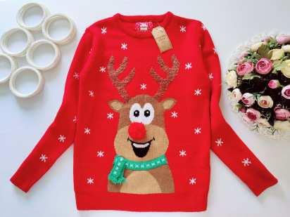 12,13 лет, рост 158 Новый детский новогодний свитер