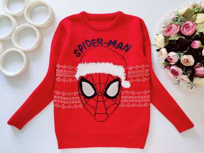 7,8 лет, рост 128 Детский новогодний свитер