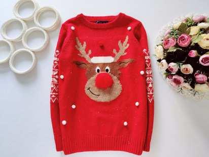 10 лет, рост 140 Новогодний детский свитер