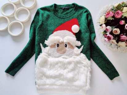 10,11 лет, рост 140,146 Новогодний свитер с дед морозом