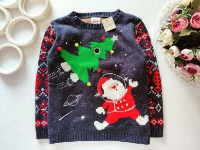 5,6 лет, рост 110,116 Новый детский свитер с елкой