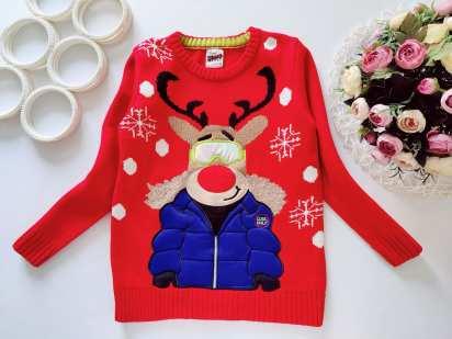 7,8 лет, рост 122,128 Новогодний свитер