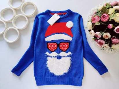 6 лет, рост 116 Новый свитер с дед морозом