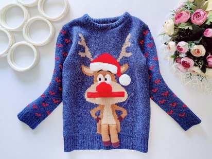 6,7 лет, рост 116,122 Новогодний свитер