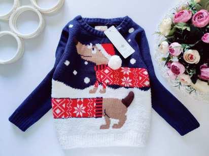3,4 года, рост 104 Новый свитер с собакой